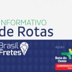 Informativo de Rotas Brasil Fretes: trechos com 'Pare e Siga' nesta quarta-feira (15)